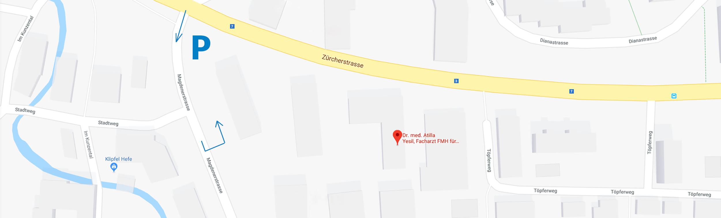 Google Maps von Frauenarzt Dr. med. Atilla Yesil